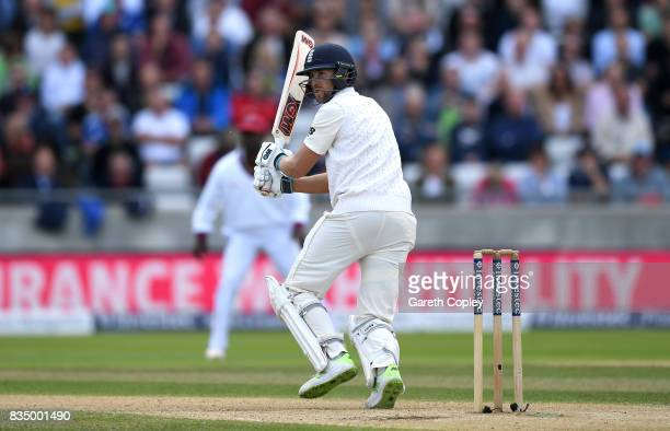 Dawid Malan of England bats during day two of the 1st Investec Test match between England and West Indies at Edgbaston on August 18 2017 in...