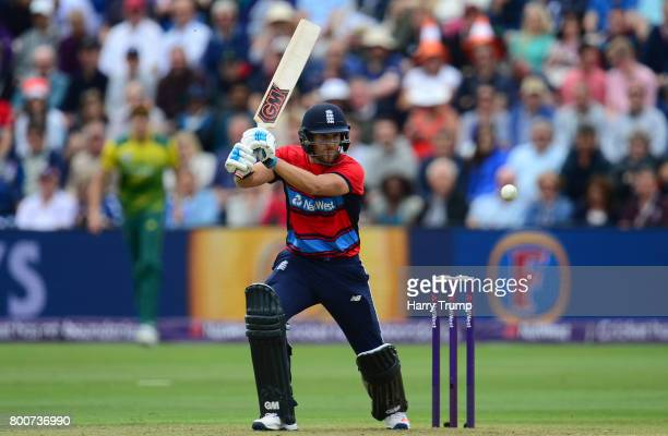 Dawid Malan of England bats during the 3rd NatWest T20 International between England and South Africa at the SWALEC Stadium on June 25 2017 in...