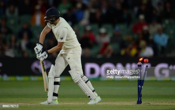 Dawid Malan of England during the fourth day of the second Ashes cricket test match between Australia and England at the Adelaide Oval on December 5...