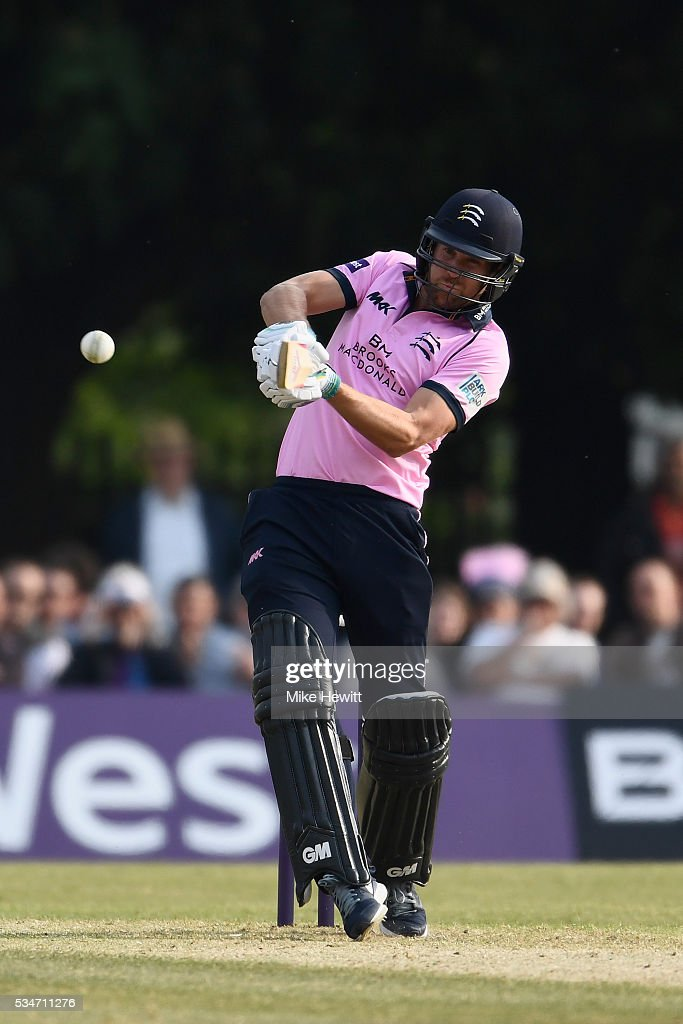 <a gi-track='captionPersonalityLinkClicked' href=/galleries/search?phrase=Dawid+Malan&family=editorial&specificpeople=4250352 ng-click='$event.stopPropagation()'>Dawid Malan</a> of Middlesex hits a boundary during the NatWest T20 Blast between Middlesex and Hampshire at the Uckfield Sports Ground on May 27, 2016 in Uckfield, England.