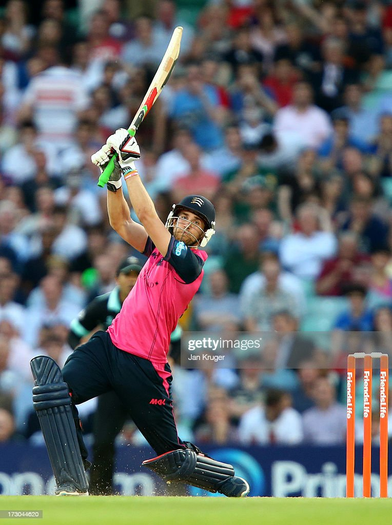 Dawid Malan of Middlesex hits out during the Friends Life T20 match between Surrey Lions and Middlesex Panthers at The Kia Oval on July 5, 2013 in London, England.