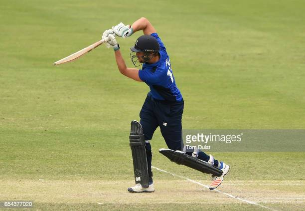 Dawid Malan of The South bats during Game One of the ECB North versus South Series at Dubai International Cricket Ground on March 17 2017 in Dubai...