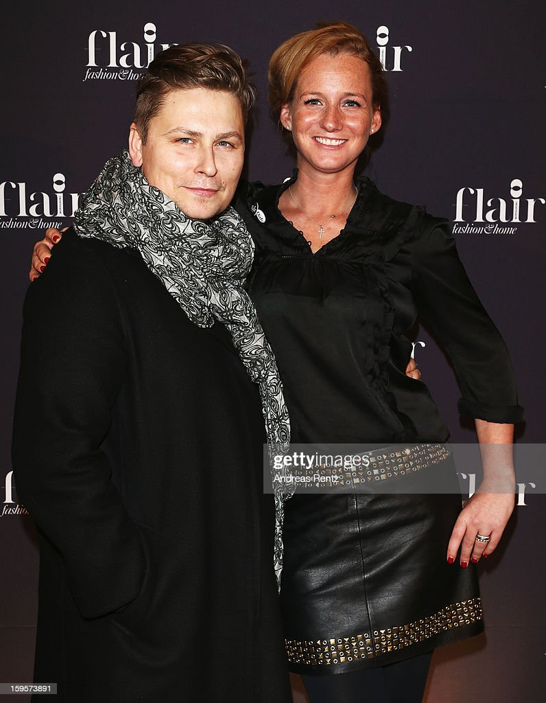 Dawid Tomaszewski and Jenny Falckenberg attend Flair Magazine Party at Pariser Platz 4 on January 15, 2013 in Berlin, Germany.