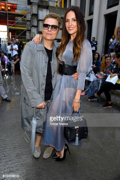 Dawid Tomaszewski and Johanna Klum attend the Marina Hoermanseder show during the Berliner Mode Salon Spring/Summer 2018 at Kronprinzenpalais on July...