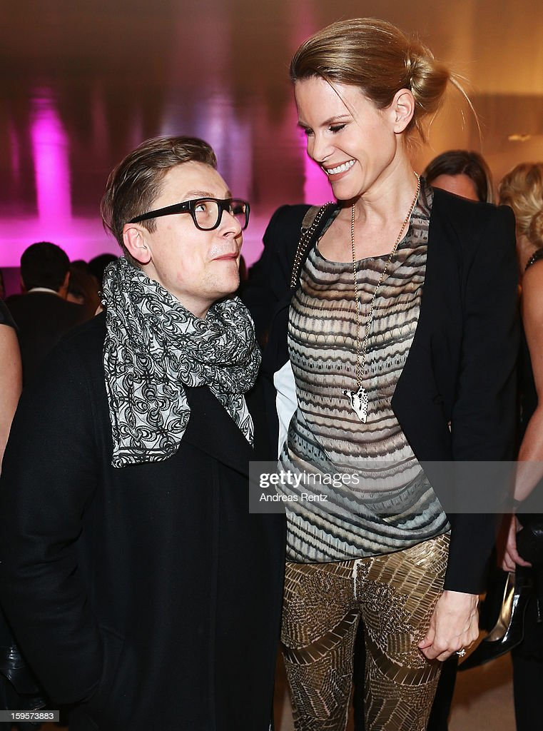 Dawid Tomaszewski and Miriam Langenscheidt attend Flair Magazine Party at Pariser Platz 4 on January 15, 2013 in Berlin, Germany.