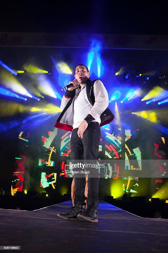 Dawin performs at Redfest DXB at Media City Amphitheatre on February 12, 2016 in Dubai, United Arab Emirates.