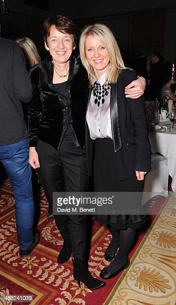 Dawn Airey and Esther Mcvey attends 'A Dazzling Evening of Festive Fun' the National Youth Theatre's annual Christmas fundraiser at the Bloomsbury...