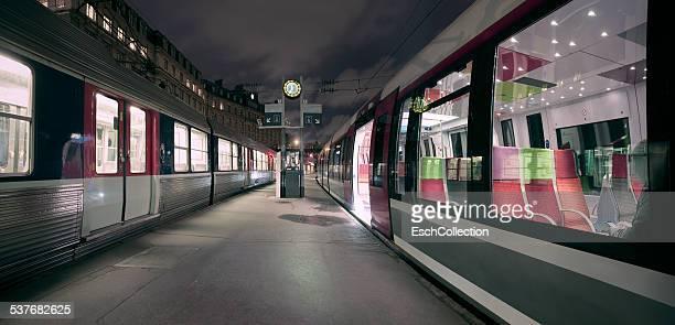 Dawn at Gare Saint Lazare in Paris, France