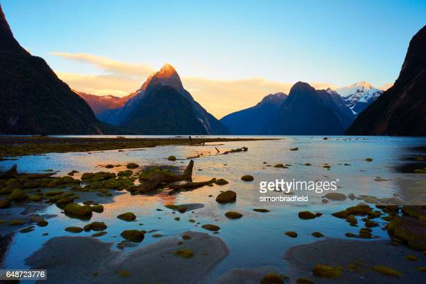 Dawn At Milford Sound In New Zealand