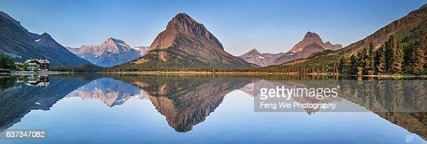 Dawn At Swiftcurrent Lake, Many Glacier, Glacier National Park, Montana, USA