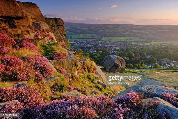 Dawn at the Cow & Calf rocks, Ilkley, Yorkshire