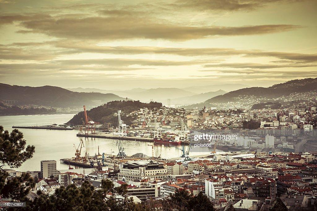 Dawn at the Harbor of Vigo, Spain