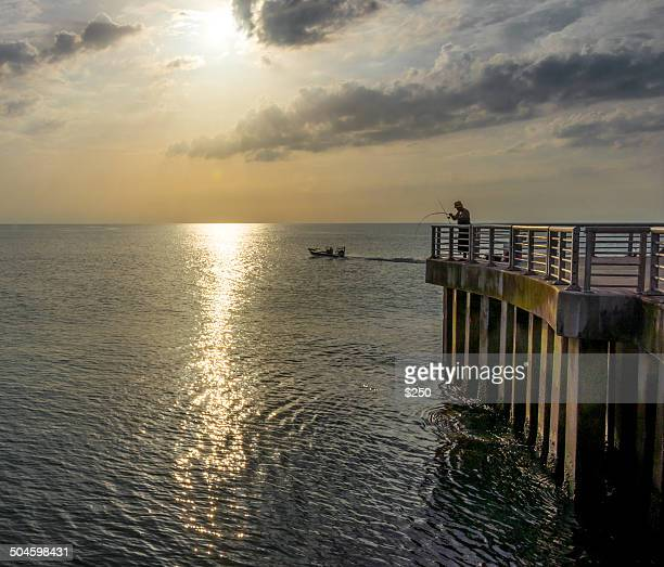 Dawn at the Sebastian Inlet In Florida
