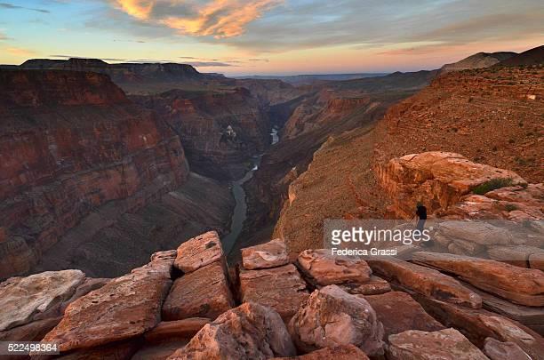 Dawn At Toroweap Point, North Rim Of The Grand Canyon, Arizona