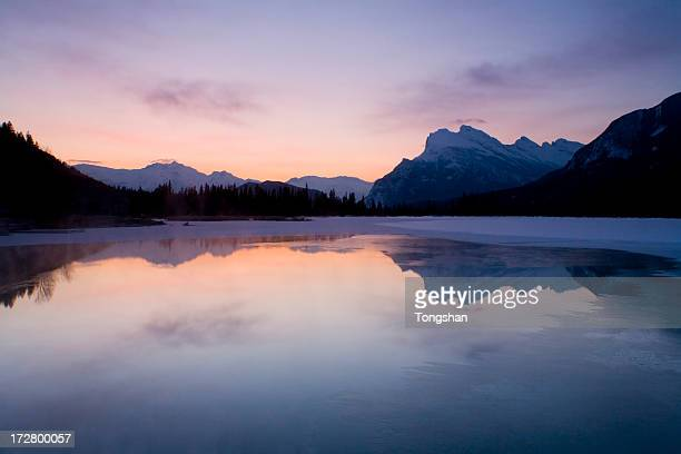 Dawn at Vermilion Lake, Banff National Park