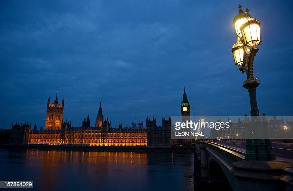 Dawn breaks of Britain's Houses of Parliament in central London on May 7 2010 Voters plunged Britain into limbo Friday as the opposition...