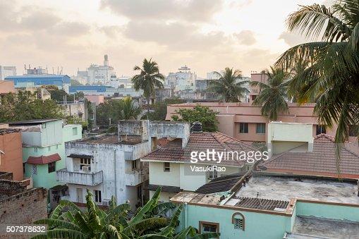 Dawn breaks over Chennai, India