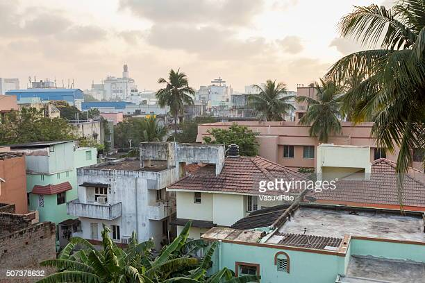 Dawn breaks over Chennai, India