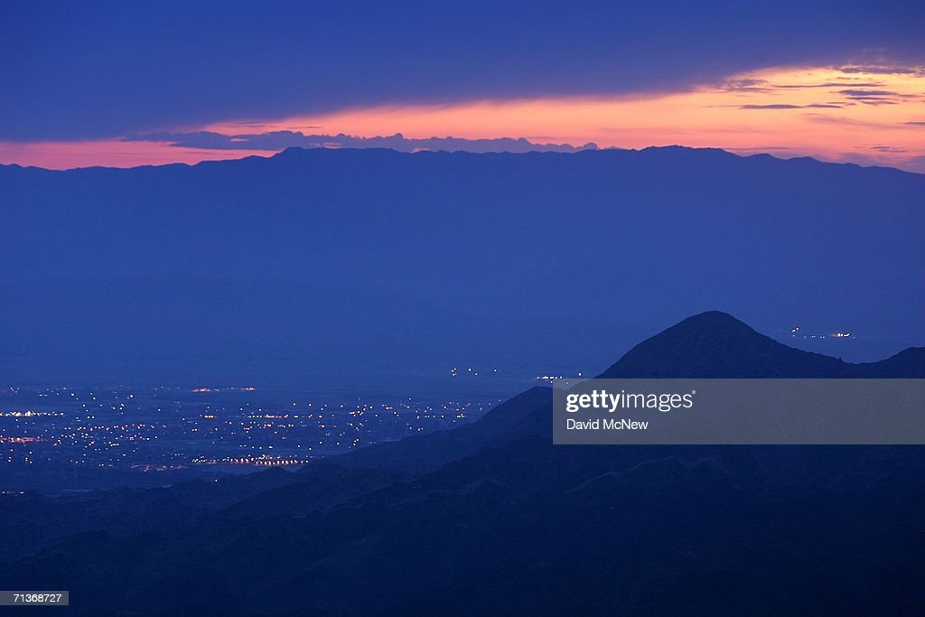 Dawn comes to the city of Indio in the Coachella Valley where desert cities such as Palm Springs and Palm Desert may be threatened by a major...