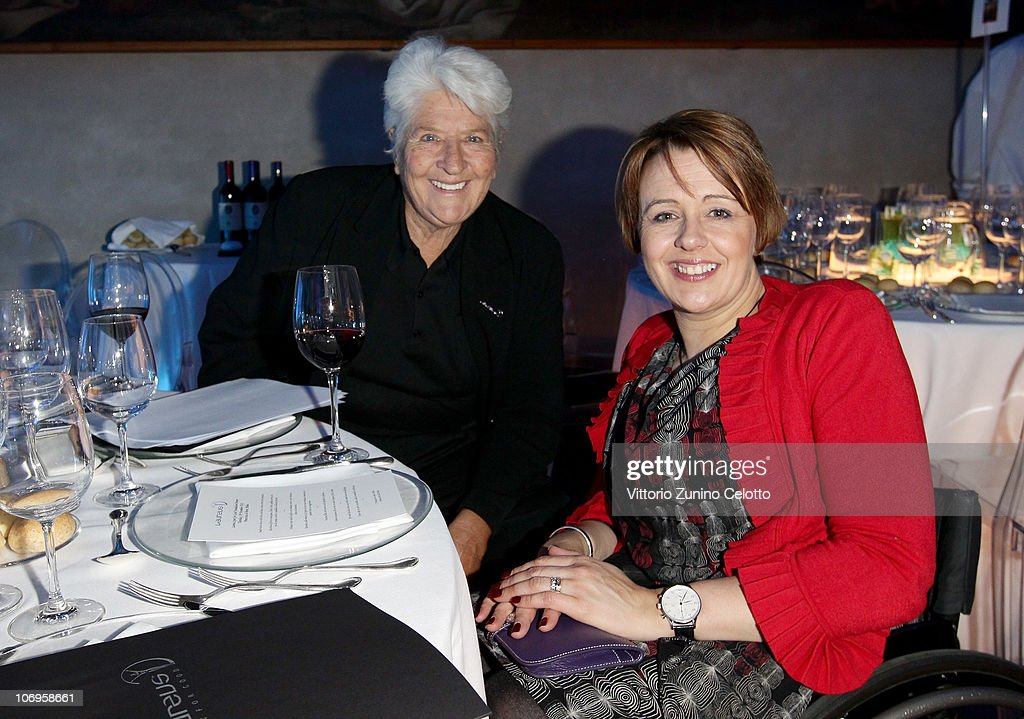 Dawn Fraser (L) and Tanni Grey-Thompson attend the Laureus Sport For Good Foundation Banquet held at Pinacoteca di Brera on November 18, 2010 in Milan, Italy.
