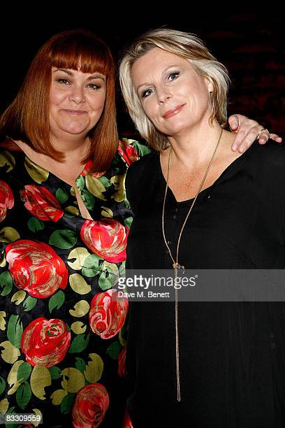 Dawn French and Jennifer Saunders attend the press night of 'French Saunders' at Theatre Royal Drury Lane on October 16 2008 in London England
