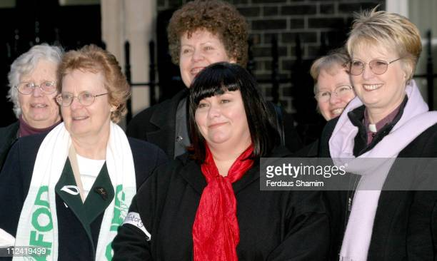 Dawn French during Make Poverty History January 13 2005 at 10 Downing St in London Great Britain