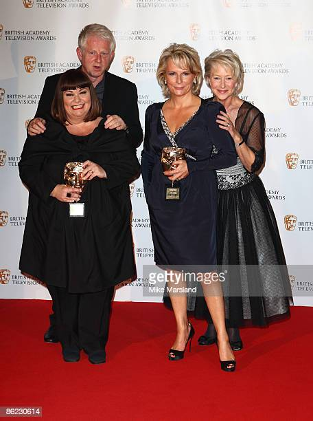 Dawn French Richard Curtis Jennifer Saunders and Helen Mirren attends the press room at British Academy Television Awards at Royal Festival Hall on...