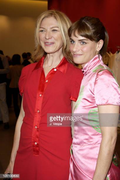 Dawn Hudson and Amanda Peet during Miu Miu Party for IFP Los Angeles Filmmaker Labs at Miu Miu Store in Los Angeles California United States