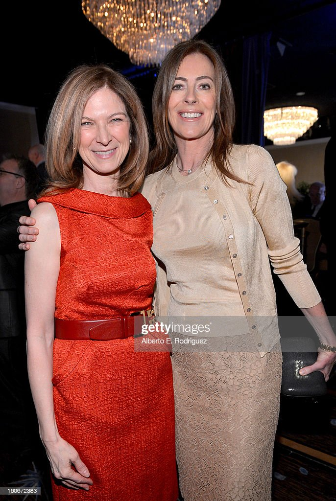 Dawn Hudson (L) and Director Kathryn Bigelow attend the 85th Academy Awards Nominations Luncheon at The Beverly Hilton Hotel on February 4, 2013 in Beverly Hills, California.