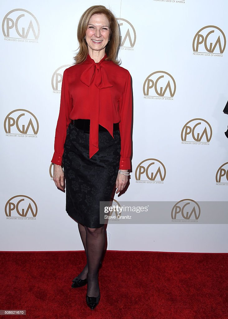 Dawn Hudson arrives at the 27th Annual Producers Guild Awards at the Hyatt Regency Century Plaza on January 23 2016 in Century City California
