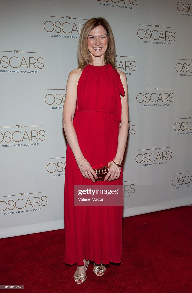 Dawn Hudson arrives at the Academy Of Motion Picture Arts And Sciences' Scientific & Technical Awards at Beverly Hills Hotel on February 9, 2013 in Beverly Hills, California.