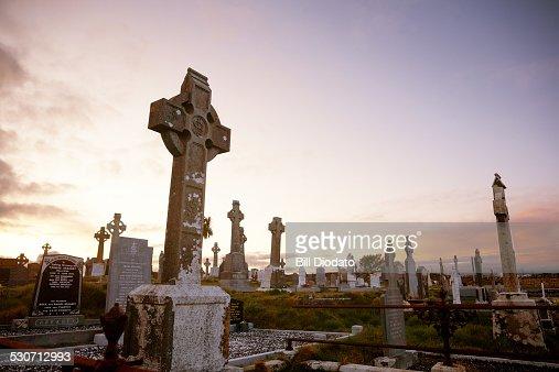 Dawn in a Cemetery