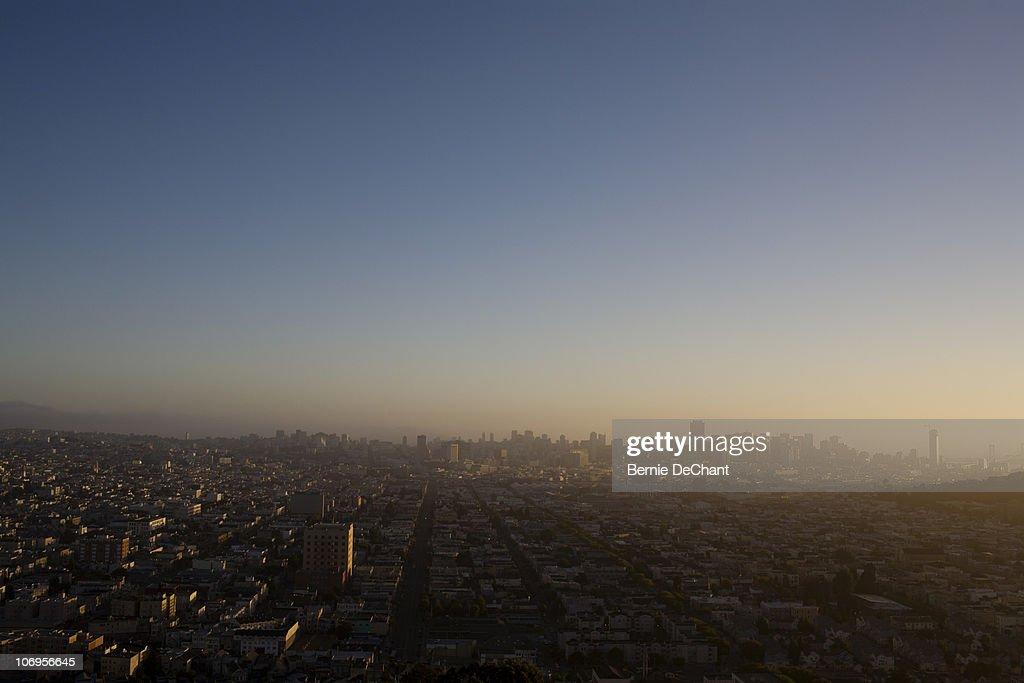 Dawn in San Francisco : Stock Photo