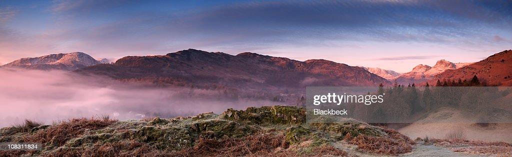 Dawn in the English Lake District : Stock Photo