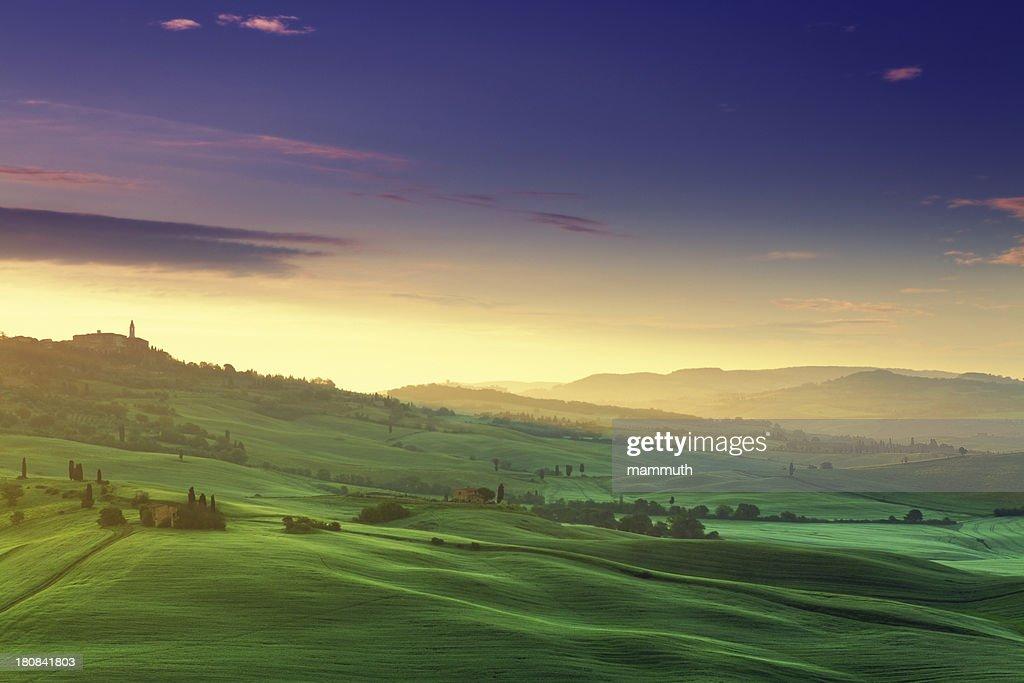 dawn in Tuscany : Stock Photo