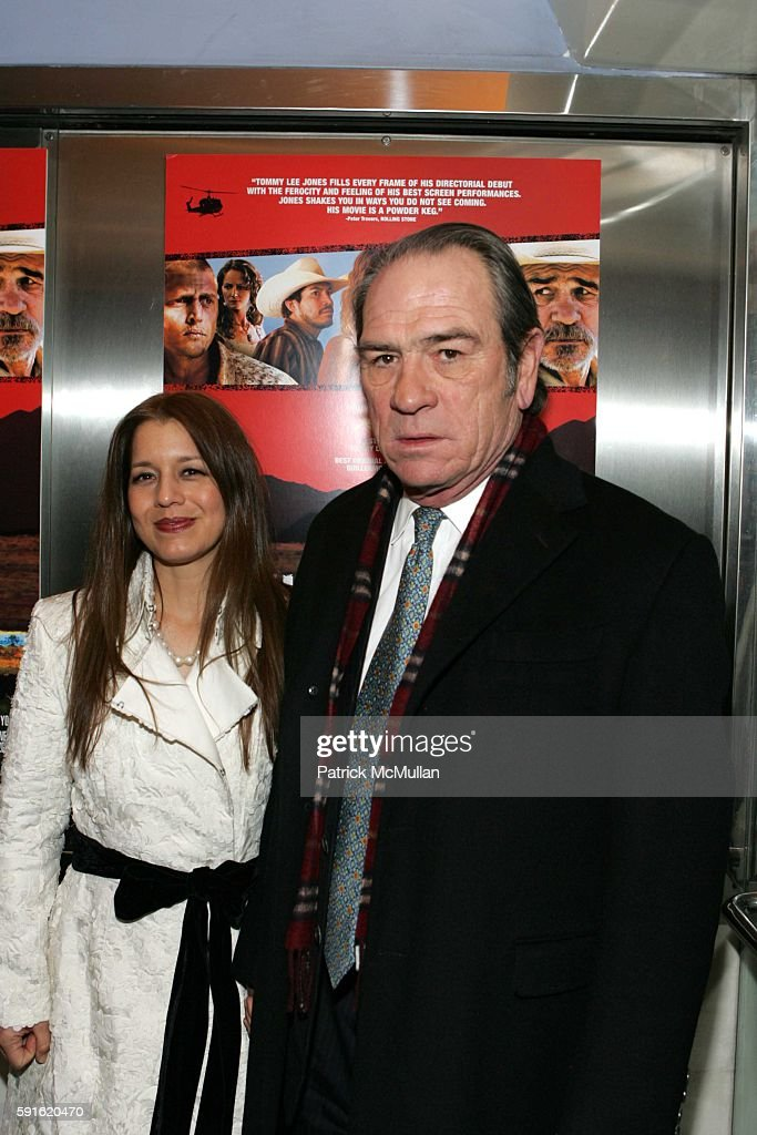 Dawn Jones and Tommy Lee Jones attend The Premiere of 'The Three Burials of Melquiades Estrada' at Paris Theatre on December 12 2005 in New York City