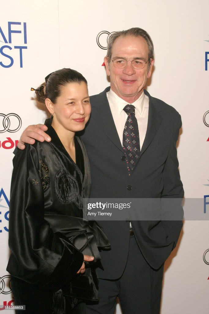 Dawn Jones and Tommy Lee Jones during AFI Fest 2005 Centerpiece Gala Presentation of 'The Three Burials of Melquiades Estrada' Arrivals in Los...