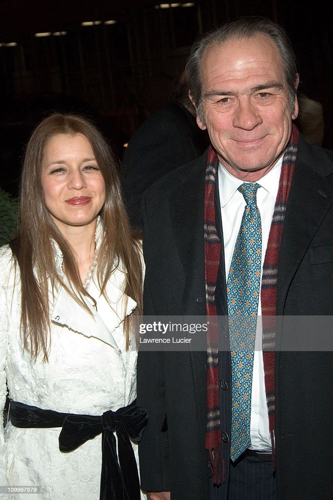 Dawn Jones and Tommy Lee Jones during The Three Burials of Melquiades Estrada New York City Premiere at Paris Theater in New York City New York...