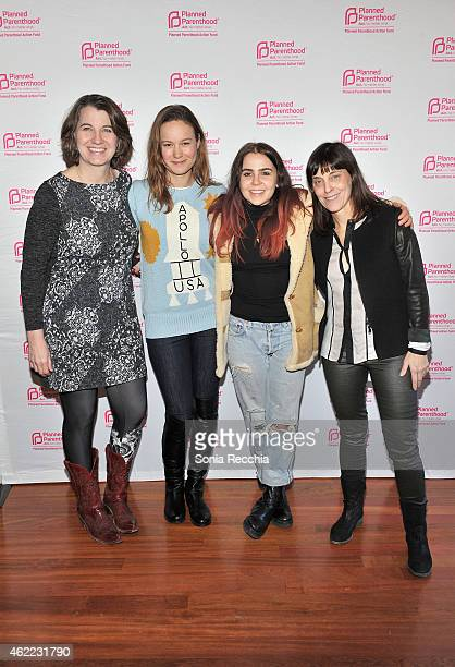 Dawn Laguens Brie Larson Mae Whitman and Caren Spruch attend Sex Politics And Film Hosted By Lena Dunham And Planned Parenthood Action Fund 2015 Park...