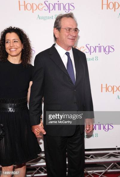 Dawn LaurelJones and actor Tommy Lee Jones attend the 'Hope Springs' premiere at the SVA Theater on August 6 2012 in New York City