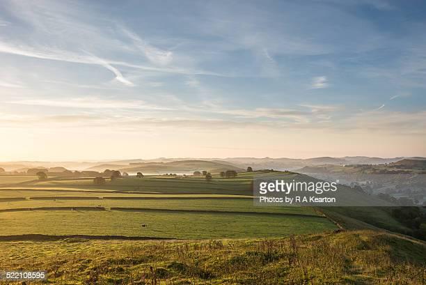 Dawn light on an English landscape