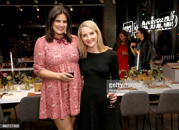 Dawn McCoy and Lizzy Schofding at the Domino Outpost CB2 Influencer Dinner at Fred Segal on December 11 2017 in Los Angeles California