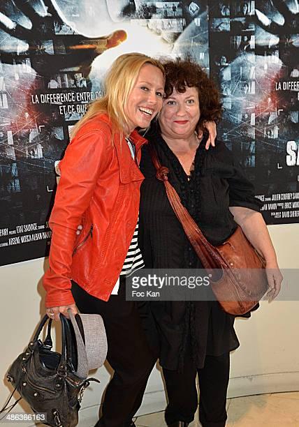 Dawn McDaniel and Josy Foichat attend 'L'Etat Sauvage' Paris Premiere at Cinema Arlequin on April 23 2014 in Paris France