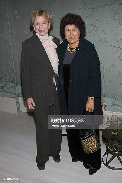 Dawn Mello and Carla Fendi attend Ira Neimark's Book Launch 'CROSSING FIFTH AVENUE To Bergdorf Goodman' at Bergdorf Goodman on November 6 2006 in New...