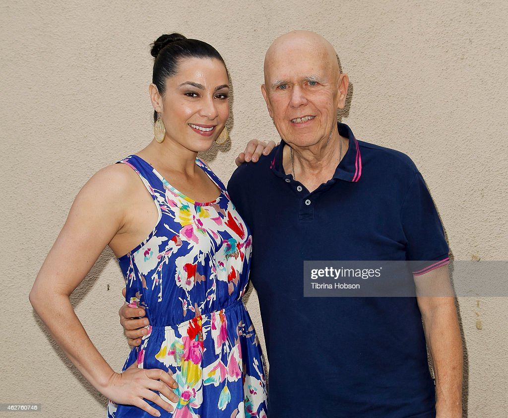 Dawn Noel and Ron Irwin attend Irwin's book signing for 'Live Die Live Again' at Golden Chicken Greek Mediterranean Restaurant on February 4 2015 in...