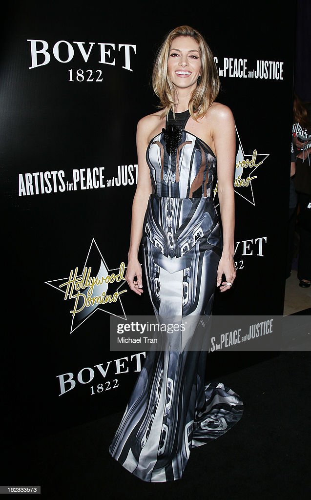 <a gi-track='captionPersonalityLinkClicked' href=/galleries/search?phrase=Dawn+Olivieri&family=editorial&specificpeople=2516888 ng-click='$event.stopPropagation()'>Dawn Olivieri</a> arrives at the 6th Annual Hollywood Domino Pre-Oscar Gala & Tournament held at Sunset Tower on February 21, 2013 in West Hollywood, California.