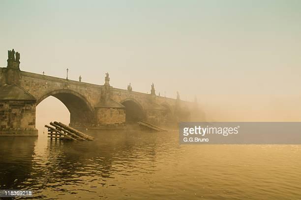 Dawn on Prague Charles Bridge