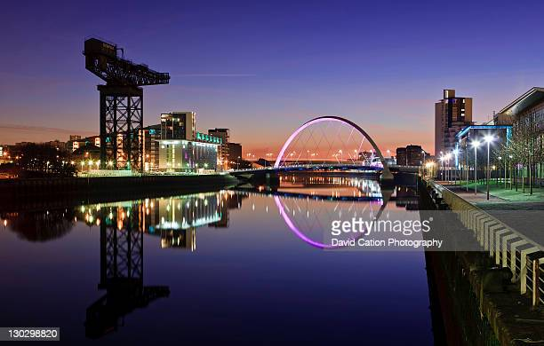 Dawn on river clyde