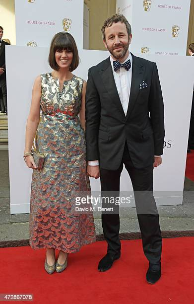 Dawn O'Porter and Chris O'Dowd attend the House of Fraser British Academy Television Awards at Theatre Royal Drury Lane on May 10 2015 in London...