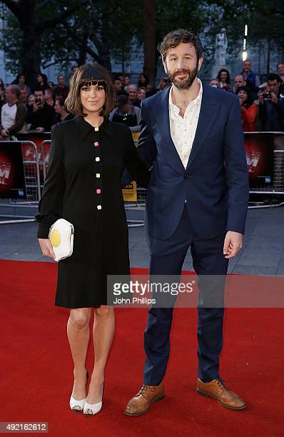 Dawn O'Porter and Chris O'Dowd attend the 'The Program' screening during the BFI London Film Festival at Vue Leicester Square on October 10 2015 in...